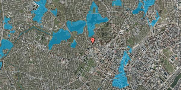 Oversvømmelsesrisiko fra vandløb på Efterslægtsvej 10B, 2400 København NV