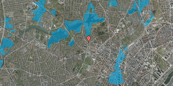 Oversvømmelsesrisiko fra vandløb på Efterslægtsvej 12B, 2400 København NV