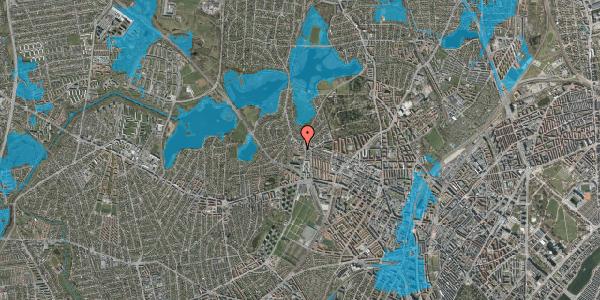 Oversvømmelsesrisiko fra vandløb på Efterslægtsvej 12D, 2400 København NV