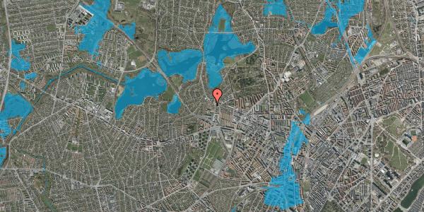 Oversvømmelsesrisiko fra vandløb på Efterslægtsvej 14A, 2400 København NV
