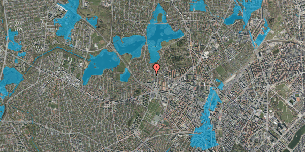 Oversvømmelsesrisiko fra vandløb på Efterslægtsvej 14B, 2400 København NV