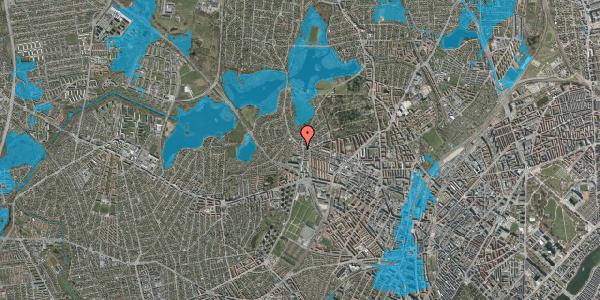 Oversvømmelsesrisiko fra vandløb på Efterslægtsvej 14C, 2400 København NV
