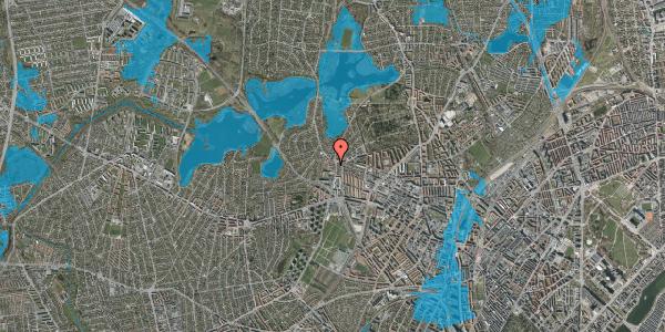 Oversvømmelsesrisiko fra vandløb på Efterslægtsvej 14D, 2400 København NV