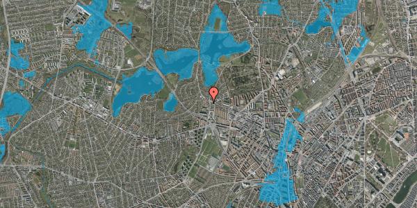 Oversvømmelsesrisiko fra vandløb på Efterslægtsvej 16A, 2400 København NV