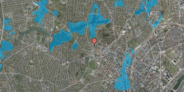 Oversvømmelsesrisiko fra vandløb på Efterslægtsvej 16D, 2400 København NV