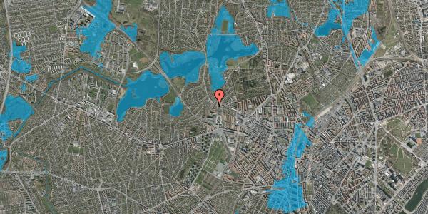 Oversvømmelsesrisiko fra vandløb på Efterslægtsvej 18D, 2400 København NV