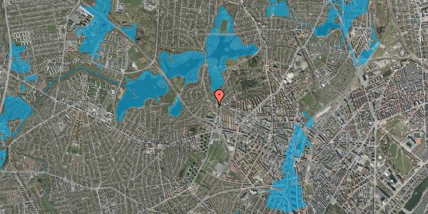 Oversvømmelsesrisiko fra vandløb på Efterslægtsvej 20C, 2400 København NV