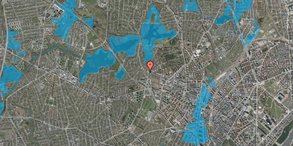 Oversvømmelsesrisiko fra vandløb på Efterslægtsvej 20D, 2400 København NV