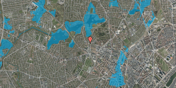 Oversvømmelsesrisiko fra vandløb på Efterslægtsvej 22C, 2400 København NV