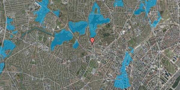 Oversvømmelsesrisiko fra vandløb på Efterslægtsvej 28C, 2400 København NV