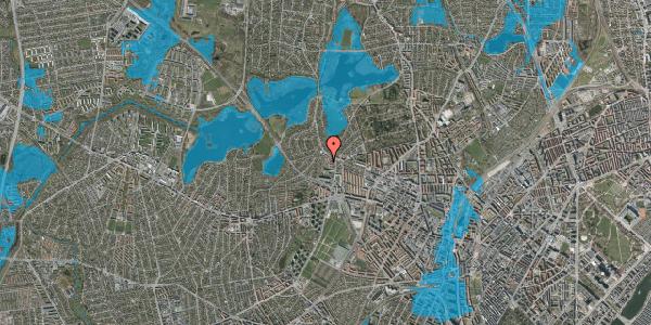Oversvømmelsesrisiko fra vandløb på Efterslægtsvej 28D, 2400 København NV