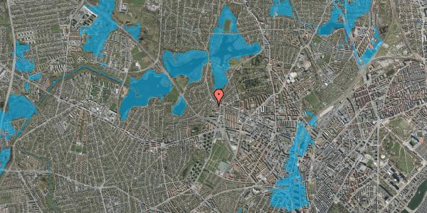 Oversvømmelsesrisiko fra vandløb på Efterslægtsvej 30A, 2400 København NV