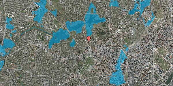 Oversvømmelsesrisiko fra vandløb på Efterslægtsvej 30B, 2400 København NV