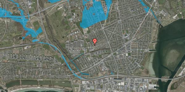 Oversvømmelsesrisiko fra vandløb på Mellemvangsvej 22, 2650 Hvidovre