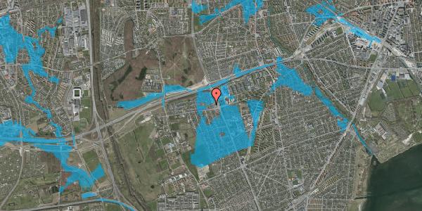 Oversvømmelsesrisiko fra vandløb på Hf. Kettehøj 125, 2650 Hvidovre