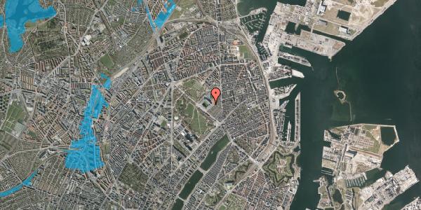 Oversvømmelsesrisiko fra vandløb på Øster Allé 48, 4. tv, 2100 København Ø