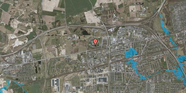 Oversvømmelsesrisiko fra vandløb på Gregersensvej 8M, 2630 Taastrup