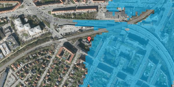 Oversvømmelsesrisiko fra vandløb på Borups Alle 150A, 3. th, 2000 Frederiksberg
