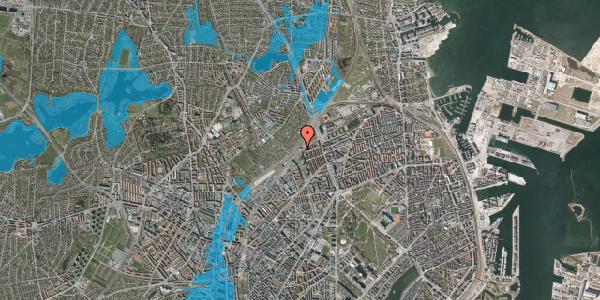 Oversvømmelsesrisiko fra vandløb på Rovsingsgade 40, 3. , 2100 København Ø