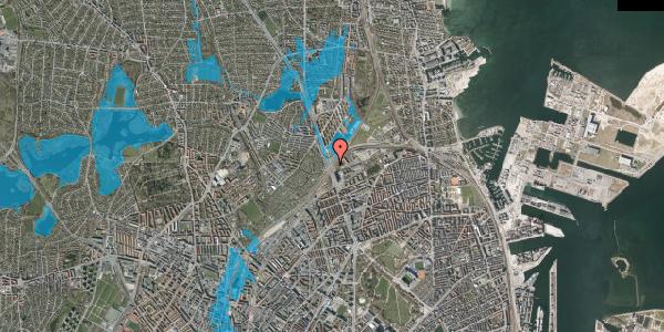Oversvømmelsesrisiko fra vandløb på Lyngbyvej 102, 2100 København Ø