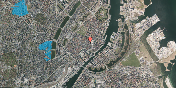 Oversvømmelsesrisiko fra vandløb på Bremerholm 1, st. tv, 1069 København K