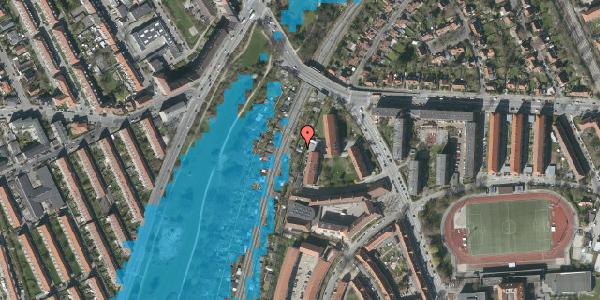 Oversvømmelsesrisiko fra vandløb på Haven 9B, 2000 Frederiksberg