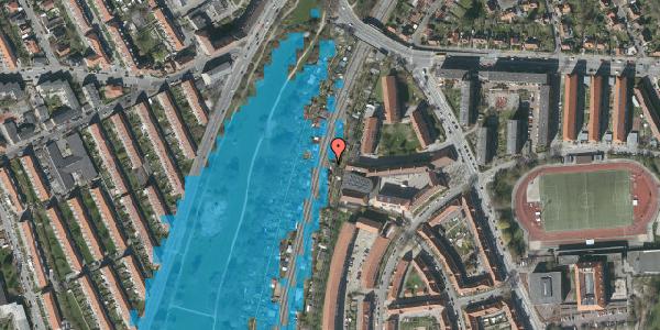 Oversvømmelsesrisiko fra vandløb på Haven 11B, 2000 Frederiksberg