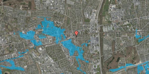 Oversvømmelsesrisiko fra vandløb på Østbrovej 6, 1. , 2600 Glostrup