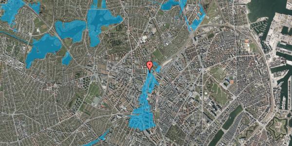 Oversvømmelsesrisiko fra vandløb på Bisiddervej 31, 3. tv, 2400 København NV