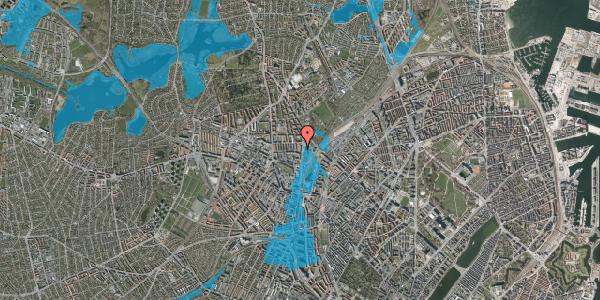 Oversvømmelsesrisiko fra vandløb på Bisiddervej 33, 3. th, 2400 København NV