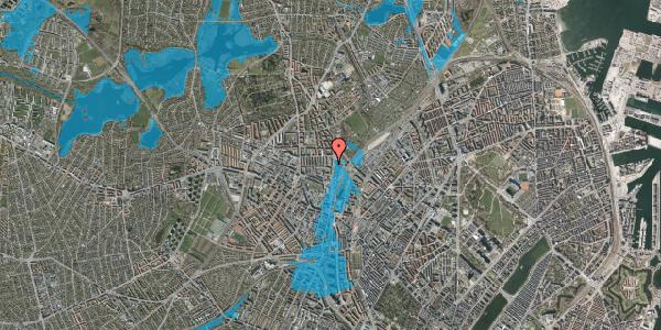 Oversvømmelsesrisiko fra vandløb på Bisiddervej 33, 2. th, 2400 København NV