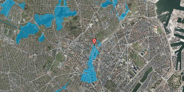 Oversvømmelsesrisiko fra vandløb på Bisiddervej 35, 4. tv, 2400 København NV