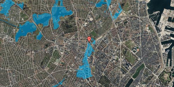 Oversvømmelsesrisiko fra vandløb på Bisiddervej 37, 2. th, 2400 København NV