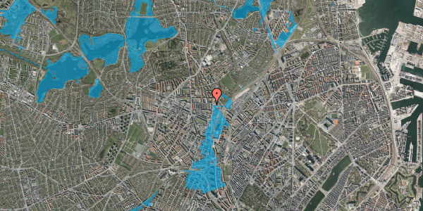 Oversvømmelsesrisiko fra vandløb på Bisiddervej 39, 3. th, 2400 København NV