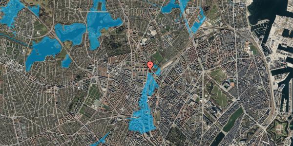 Oversvømmelsesrisiko fra vandløb på Bisiddervej 39, 2. tv, 2400 København NV