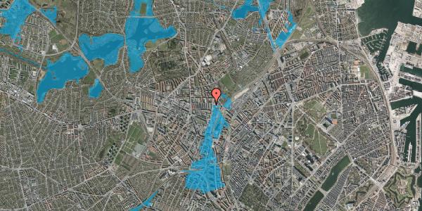Oversvømmelsesrisiko fra vandløb på Bisiddervej 39, 2. th, 2400 København NV