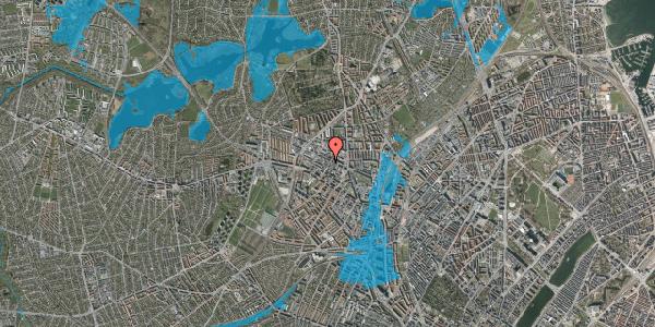 Oversvømmelsesrisiko fra vandløb på Provstevej 13B, 2400 København NV