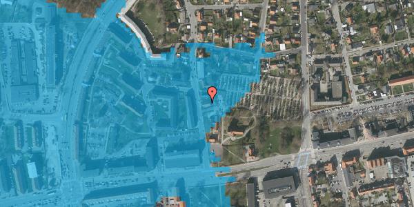 Oversvømmelsesrisiko fra vandløb på Østervej 10A, 2600 Glostrup