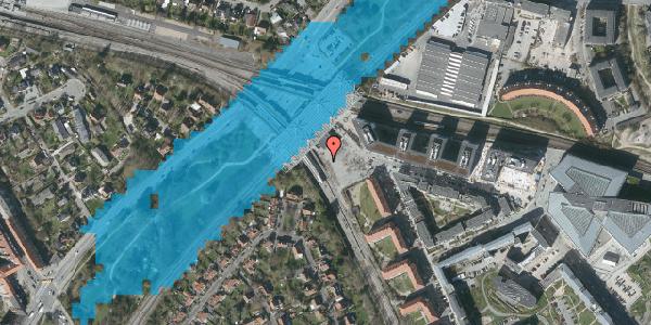 Oversvømmelsesrisiko fra vandløb på Flintholm Alle 55, 2000 Frederiksberg