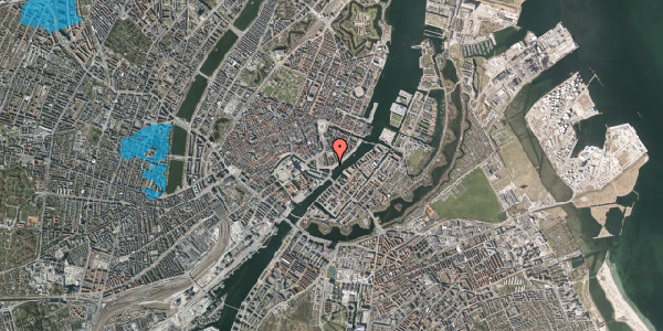 Oversvømmelsesrisiko fra vandløb på Havnegade 21, 6. tv, 1058 København K