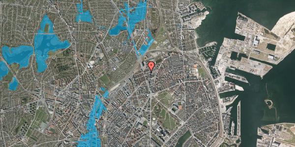Oversvømmelsesrisiko fra vandløb på Æbeløgade 13, 1. 106, 2100 København Ø