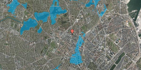 Oversvømmelsesrisiko fra vandløb på Dortheavej 2, 1. 1, 2400 København NV