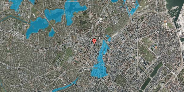 Oversvømmelsesrisiko fra vandløb på Glasvej 23, 1. , 2400 København NV