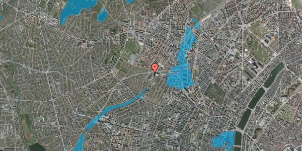 Oversvømmelsesrisiko fra vandløb på Jordbærvej 23, 2400 København NV