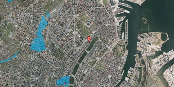 Oversvømmelsesrisiko fra vandløb på Ryesgade 65A, 2100 København Ø