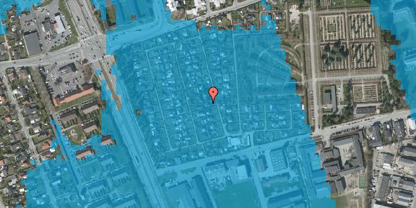 Oversvømmelsesrisiko fra vandløb på Hf. Svarø 75, 2650 Hvidovre
