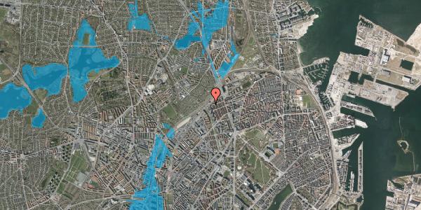Oversvømmelsesrisiko fra vandløb på Rovsingsgade 29B, 2100 København Ø