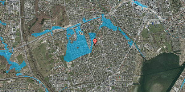 Oversvømmelsesrisiko fra vandløb på Bibliotekvej 43, 2650 Hvidovre