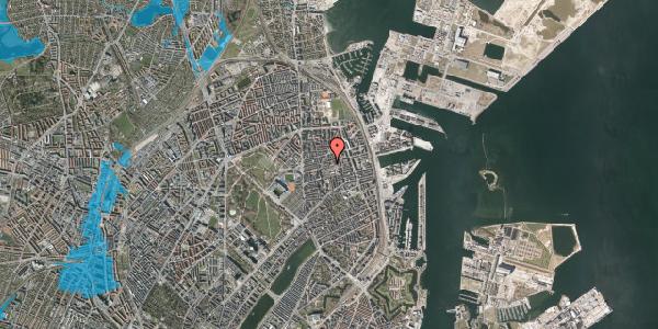 Oversvømmelsesrisiko fra vandløb på Viborggade 70B, 1. , 2100 København Ø