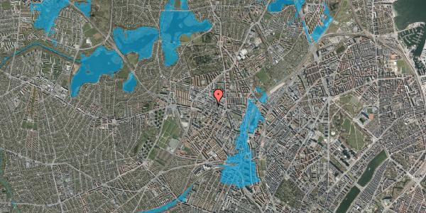 Oversvømmelsesrisiko fra vandløb på Provstevej 13A, 2400 København NV